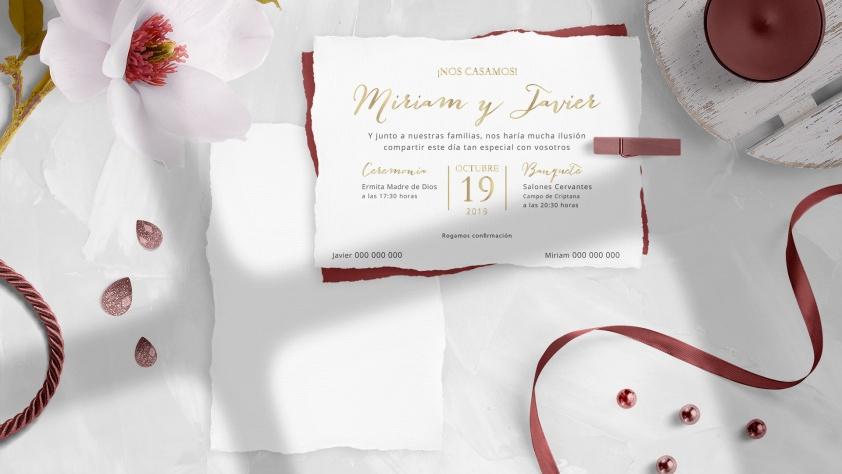 Saira Design - Nuestros Proyectos - Invitaciones de Boda en papeles especiales